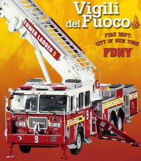 Camion dei pompieri – Vigili del fuoco – New York – 1/24 – FDNY – montato con luci e suoni