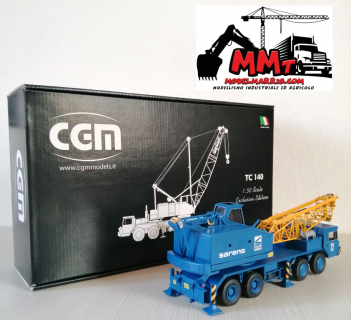 Autogru tralicciata DEMAG TC 140 – Sarens – CGM Models – 1:50 – Edizione artigianale limitata e certificata – MADE IN ITALY