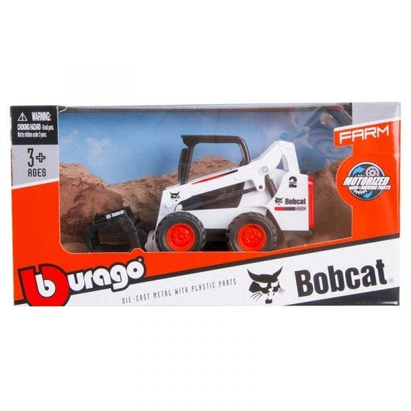 BURAGO - BOBCAT - S590 TRACTOR RUSPA GOMMATA 2010 - SKID-STEER WITH FRONT LOADER GRAPPLE - 31802 - 1:50