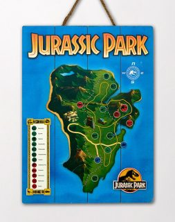 JURASSIC PARK WOODEN MAP POSTER – Doctor Collector – 73030