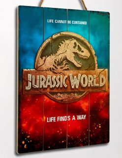 JURASSIC WORLD LOGO WOODEN POSTER – Doctor Collector – 73032