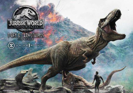 Jurassic World: Fallen Kingdom Statue T-Rex & Carnotaurus 90 cm – Prime 1 Studio – 78894 – 1:15
