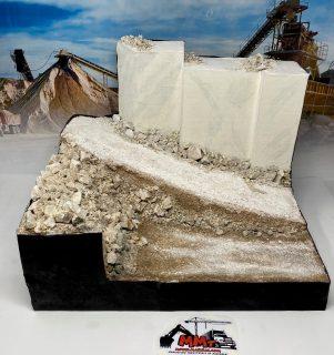 Diorama mini Base cava di marmo – 1/50 – 1/43 – (mezzi non inclusi)